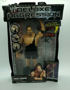 WWE Deluxe Aggression Big Show Figure SERIES 5 JAKKS PACIFIC Bendy SIGN WWF