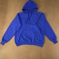 Hanes Men's Size Medium Blue Long Sleeve Pullover Ecosmart Fleece Sweatshirt