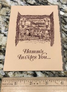 Rare Hamm's Beer Rathskeller Company Invitation St Paul Minnesota. Free Shipping
