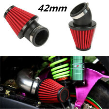 42mm Universal 45° Bend Motorcycle Racing Cold Air Intake Filter Kit With Clamp