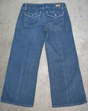 Paige La Jolla Capri Jeans Court Sz 26 Délavé W Extensible