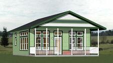 24x30 House -- 1 Bedroom 1 Bath  -- PDF Floor Plan -- 720 sq ft -- Model 2B