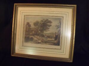 """ANTIQUE 1774 JOHN BOYDELL 8"""" BY 10"""" HAND COLORED ENGRAVING"""
