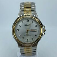 BRUT TWO TONE EXPANDABLE STAINLESS STEEL WATCH 38MM LBX123