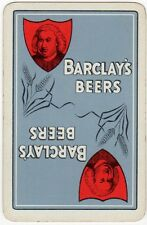 Playing Cards 1 Single Swap Card - Old BARCLAY Brewery BARCLAY'S BEERS Beer Hops