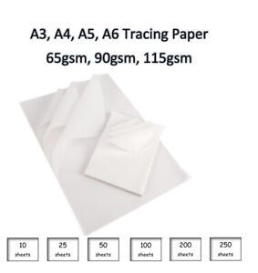 A2/A3 Tracing Paper Translucent Calligraphy Drawing Paper 90gsm-115gsm
