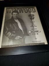 Steve Winwood Roll With It Rare Original Radio Promo Poster Ad Framed!