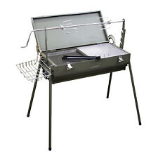 "Evelyne Portable Compact 24"" x 11"" Charcoal Barbecue BBQ Grill Outdoor Camping"