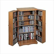Leslie Dame Enterprises 612 Series Multimedia Storage Cabinet Dark Oak  sc 1 st  eBay & Arts Crafts/Mission Style CD u0026 Video Racks | eBay