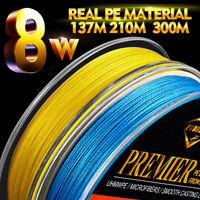 1x PE Fishing Line 8 Weaves 137M 210M 300M Multifilament Braided Wire 15LB-100LB