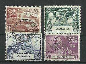 1949  Jamaica Set of 4 U.P.U. Issues, Sg 145-148, Fine used. {Box4-37}