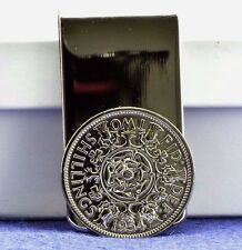 Vintage Queen Elizabeth II Florin Coin Money Clip