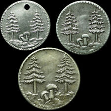 """NOTGELD: 1, 5 & 10 Pfennig 1918, """"TANNEN & PILZE"""". GEMEINDE SCHÖNWALD / BAYERN."""