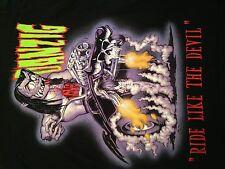 VTG Danzig Ride Like The Devil Misfits Band T Shirt. Sz. Medium Punk Metal