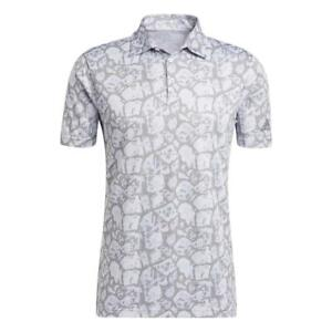 adidas Golf Cobblestone-Print Recycled Content Mens Polo Shirt (All Colours)