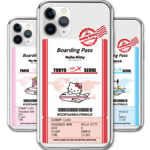 Hello Kitty Friends Boarding Pass Jelly Case iPhone 7/8/SE2 iPhone 7/8 Plus Case