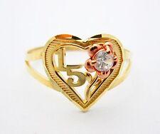 Girls 10k Two Tone Gold Sweet 15 Ring 15 Anos Ring