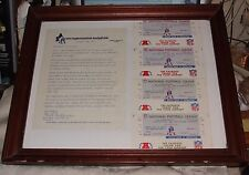 1976 New England Patriots Tickets & Billy Sullivan Letter Playoffs Championships