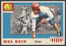 1955 TOPPS ALL AMERICAN FOOTBALL #28 MEL HEIN CENTERED SHORT PRINT