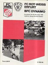 OL 85/86 FC Rot-Weiß Erfurt - BFC Dynamo Berlin