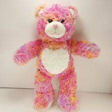 "Build A Bear Orange Pink Tye Dyed Heart Nose 17"" Bab Toy Plush Stuffed"