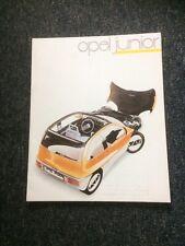OPEL JUNIOR CONCEPT CAR BROCHURE 1983 - V.RARE