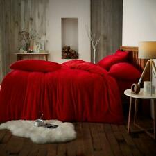 Super Soft Teddy Bear Sherpa Wool Feel Anti-Allergy Quilt Duvet Cover Sheet Set