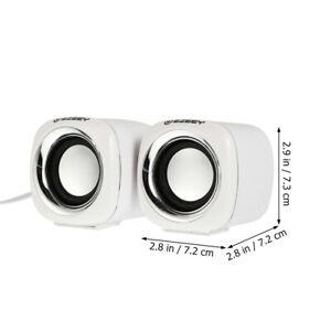 1 Paar 3,5-mm-Laptop-Lautsprecher Wired Control USB 2.0-Lautsprecher für