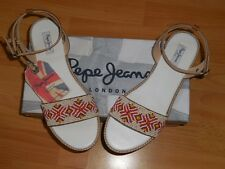 Pepe Jeans London Sandales cuir perles pointure 38 neuves