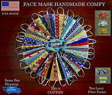 Face Mask Double Layer Fabric Filter Pocket Mouth Coverage Protectional Washable
