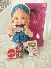 Rare Nib Mattel 1974 Musical TraLa Doll Love Notes w/Songbooks & Squeeze Me Vtg