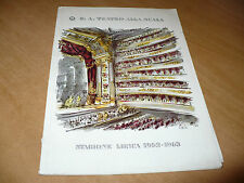 TEATRO ALLA SCALA STAGIONE LIRICA 1962-1963 DIDONE ED ENEA PASSAGGIO BERIO