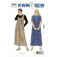 KWIK SEW SEWING PATTERN WOMEN'S JUMPERS & SHIRT SIZES 1X 2X 3X 4X   K2836