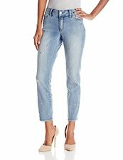 NYDJ Nichelle Slimming Ankle Core Indigo Denim Chunky Bling M10Z1093 Jeans 4