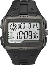 Timex Mens Grid Shock LCD Dial with a Black Resin Strap Watch TW4B02500