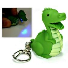 LED DINOSAUR KEYCHAIN with Light and Sound Green Dragon Toy Gift Key Chain Ring