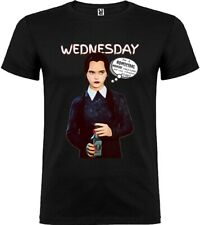 Mens t-shirt LARGE Wednesday from The Addams Family Unisex Woman My Art UK