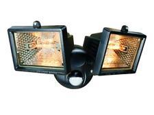Byron BYRES1202 ES120/2 Twin Halogen Floodlight With PIR Black 150 Watt