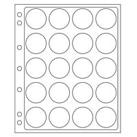 x2 38 / 39 mm Capsule / Airtite H Album Coin Pages Encap Snap For 3 Ring  Binder