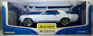 1967 Mustang Coupe - White with Blue Stripes GreenLight 1:18