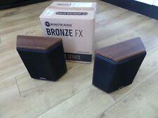 MONITOR AUDIO Bronze FX walnut Di-pole or bi-pole Surround Speakers Perfect