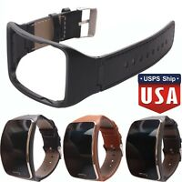 Genuine Leather Watch Band Strap w/Holder For Samsung Gear S SM-R750 Smart Watch