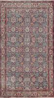 Distressed Semi Antique Traditional Geometric Area Rug Hand-knotted Oriental 3x5