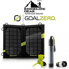 GOAL ZERO Switch 10 USB Multi-Tool w/ Nomad 7 Solar Kit Light & Fan & Charger