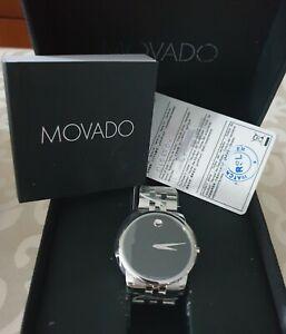 Brand New MOVADO Mens Diamond Watch Quartz/Sapphire/Stainless Steel/Mint Cond