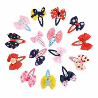 Bowknot of Girls Baby Kids Children Hair Accessories 15pcs Bow Barrettes Clips