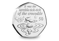 2019 Isle of Man Tick-Tock Crocodile - Peter Pan 50p coin - Uncirculated