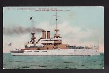 1907 Us Battle ship Illinois military ship Navy postcard