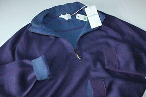Tommy Bahama Sweater Half Zip Flipsider Grape Reversible T223179 XX-Large 2XL