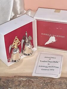 Vintage 1979 Reed And Barton Annual 12 Days Of Christmas Bells Geese/Golden Ring